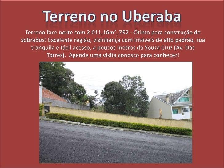 Terreno a venda no Uberaba em Curitiba