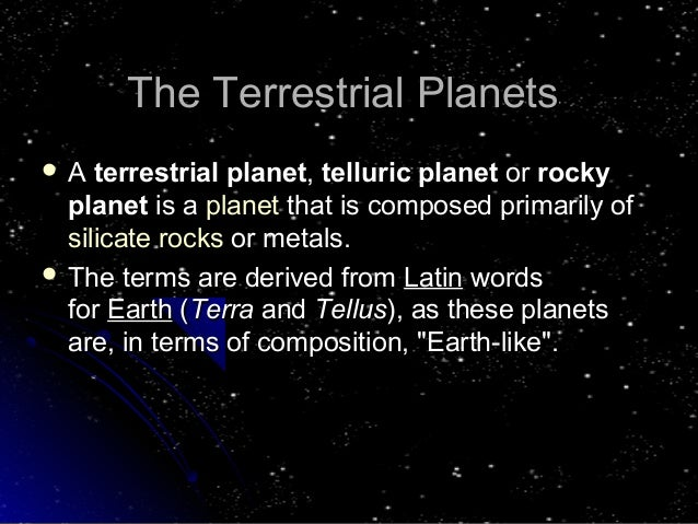 Terrestrial Planets