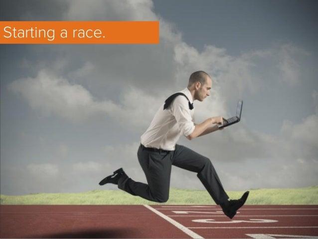 Starting a race.