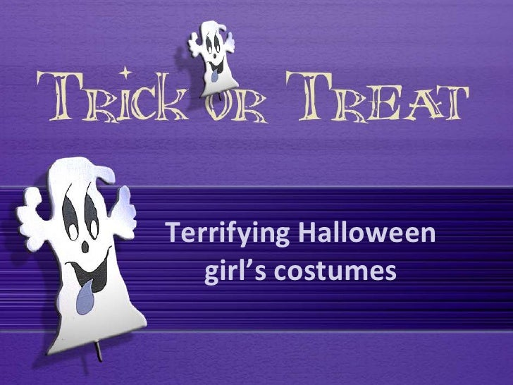 Terrifying Halloween   girl's costumes