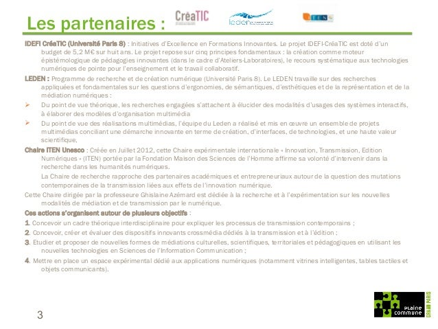 TerriNum : centre de prospective sur les smart city - Plaine Commune Slide 3