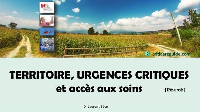 territoire  urgences critiques et acc u00e8s aux soins  r u00e9sum u00e9