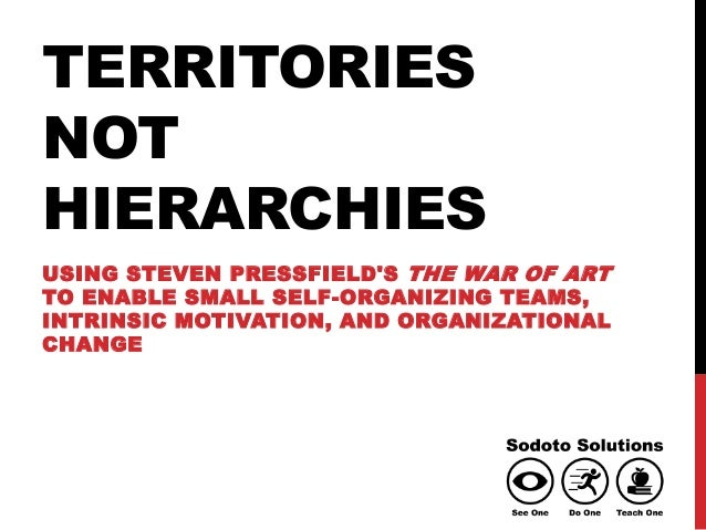 TERRITORIES NOT HIERARCHIES USING STEVEN PRESSFIELD'S THE WAR OF ART TO ENABLE SMALL SELF-ORGANIZING TEAMS, INTRINSIC MOTI...