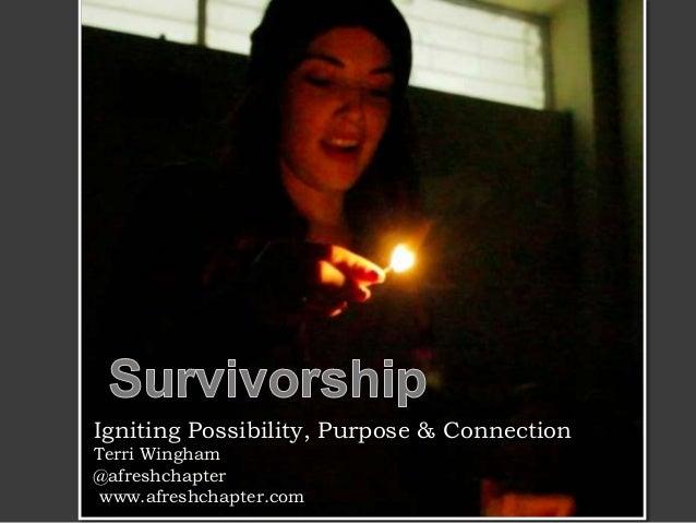 Igniting Possibility, Purpose & Connection Terri Wingham @afreshchapter www.afreshchapter.com