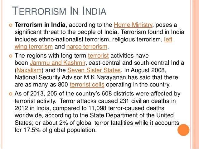 impact of terrorism and indian economy Effects of terrorism on the economy (presentation in slides)  effects of terrorism on the economy  summary effects of terrorism on the economy.