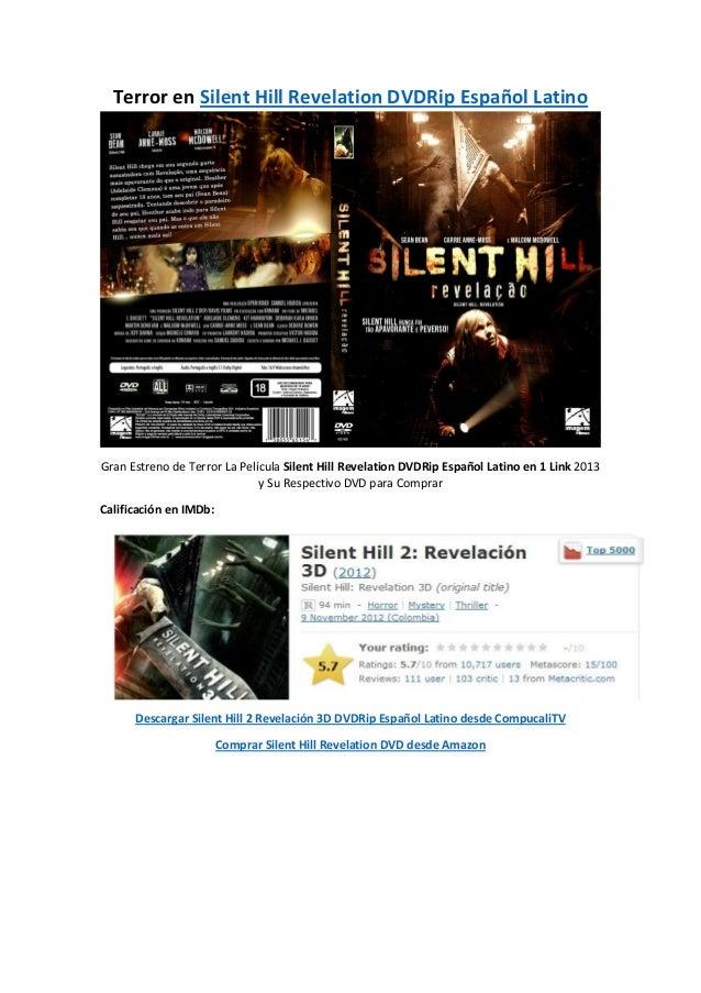 Terror en Silent Hill Revelation DVDRip Español LatinoGran Estreno de Terror La Película Silent Hill Revelation DVDRip Esp...