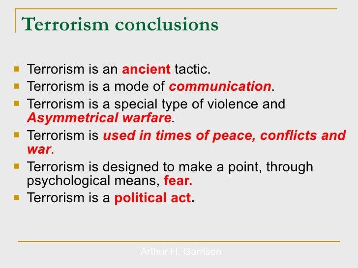 Essays on world terrorism