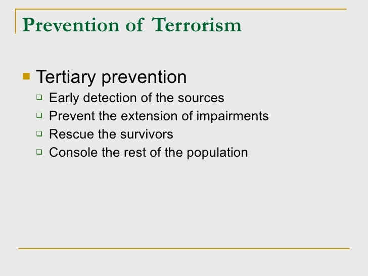 control terrorism essay Cyberterrorism essay cyberterrorism is defined differently based on focus and use, though it is consistent in its concern for national security and public policy the term tends to address two issues.
