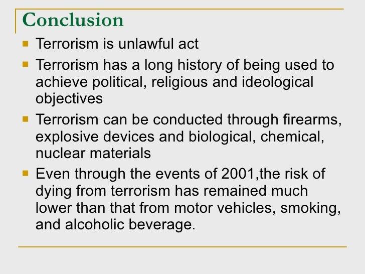 Terrorism in india essay conclusion
