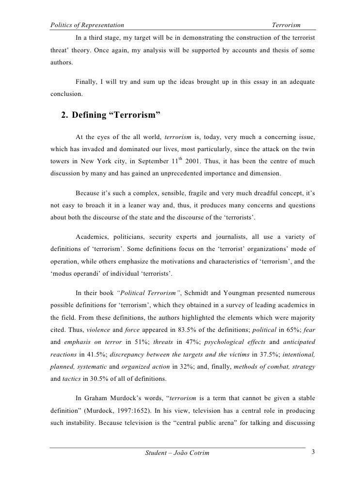 Essay On Terrorism In India  Underfontanacountryinncom Anti Terrorism Essay Terrorism Essay Of Terrorism Resume Financial  Science Technology Essay also Essay Tips For High School  General Essay Topics In English