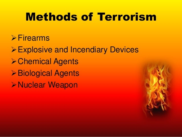 HOW TERRORISTS OPERATE ASSAULTS & MURDERS KIDNAPPING & SKYJACKINGS ARSON & BOMBINGS WEAPONS OF MASS DESTRUCTION