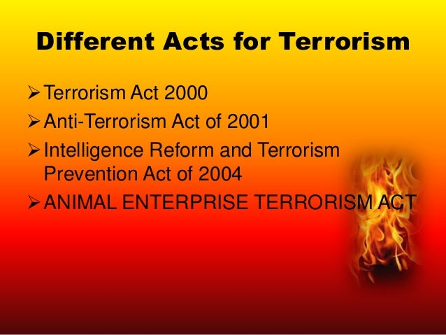 Prevention of Terrorism Primary Prevention Secondary Prevention Tertiary Prevention