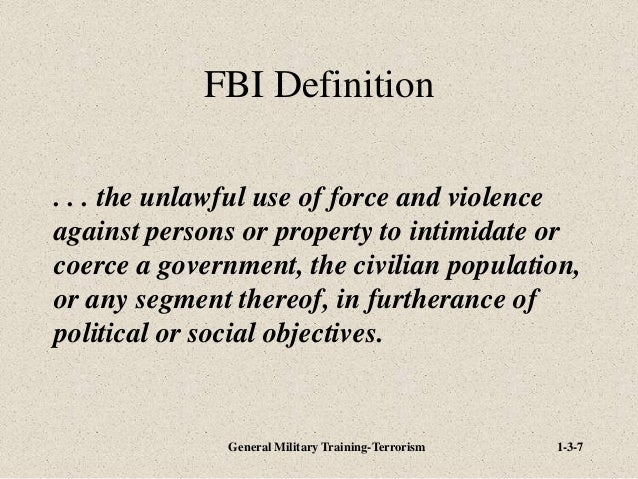what is the meaning of fbi