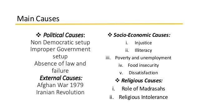 causes of terrorism in pakistan pdf