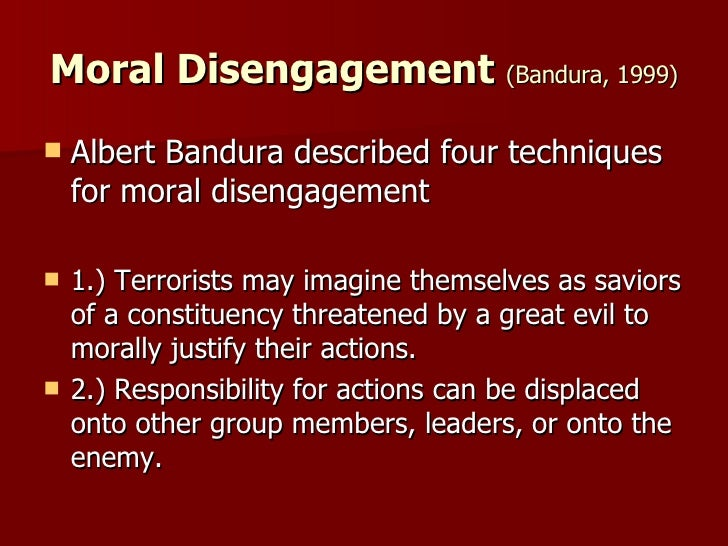 how to avoid moral disengagement