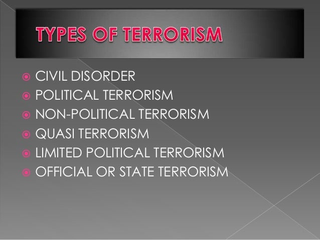 criminology and terrorism 1 the role of criminological theories in the identification of the terrorist personality by dr lopamudra bandyopadhyay since time immemorial, terrorists have had.