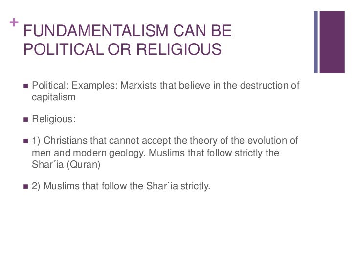 Religious Fundamentalism Examples Terrorism and fundamen...