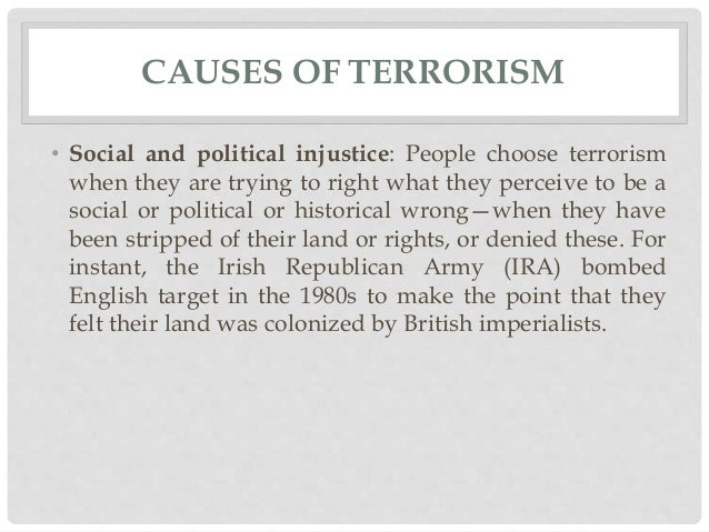 Terrorism causes and effects essay topics