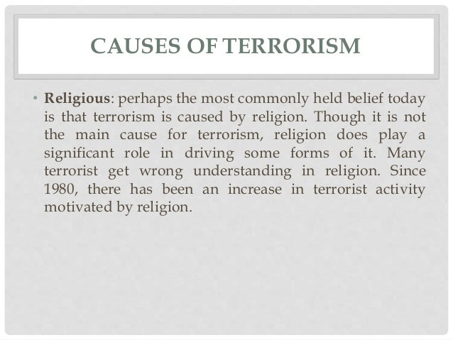 terrorism cannot be justified essay