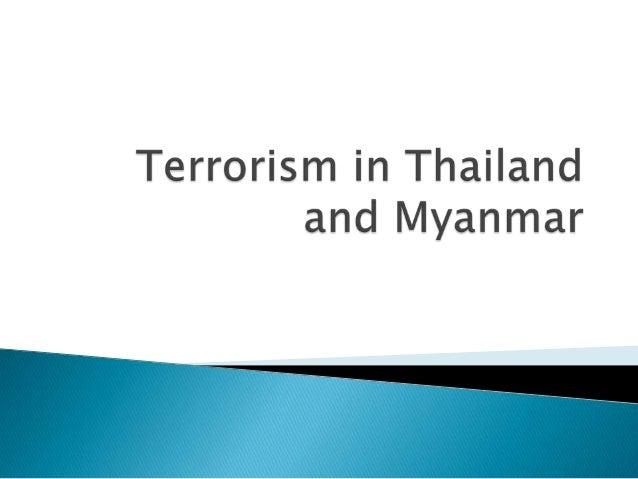 """According to the Global Terrorism Index issued by the Institute for Economics and Peace: Thailand ranked No. 8, even thou..."