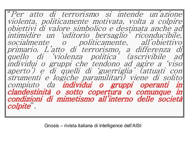 Criminologia del terrorismo endogeno for Societa italiana di criminologia