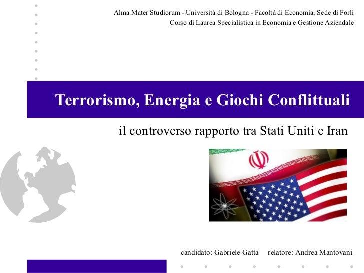 Alma Mater Studiorum - Università di Bologna - Facoltà di Economia, Sede di Forlì                         Corso di Laurea ...