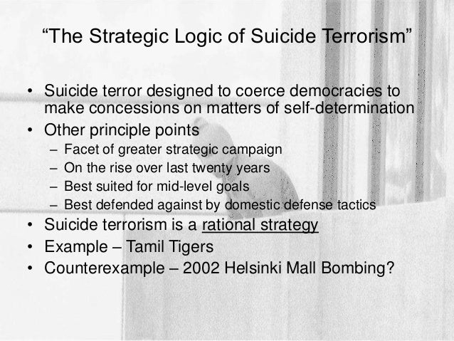 what motivates terrorists essay example View and download terrorism essays examples  regard purely motivational  attitudes, the latter implies the skillfulness to act according to what drives the act.