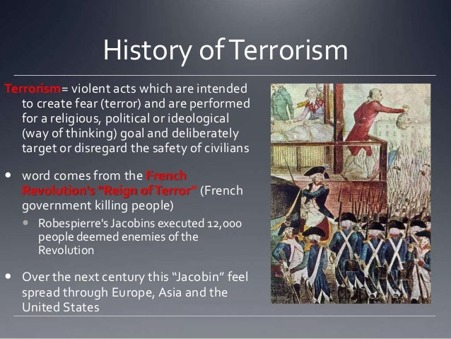 the history and spread of terrorism The routledge history of terrorism is a frustrating book some sections have well-thought out insights other sections seem to be written to satisfy the.