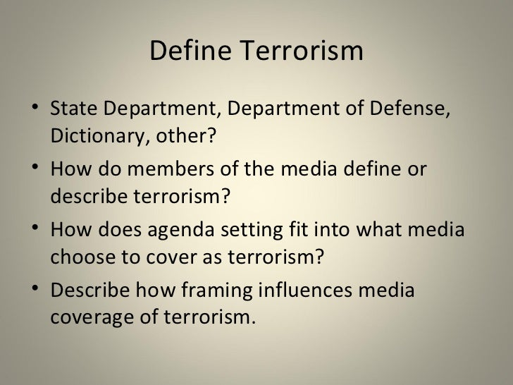 terrorism and the mass media a symbiotic relationship video