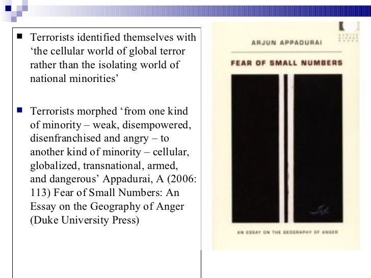 terrorism in the present world essay