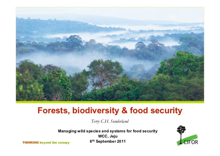 Forests, biodiversity & food security                                    Terry C.H. Sunderland                    Managing...