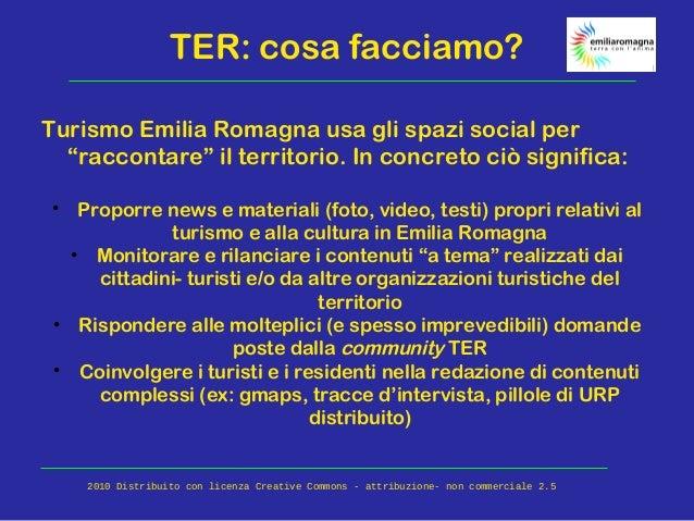 """TER: cosa facciamo? Turismo Emilia Romagna usa gli spazi social per """"raccontare"""" il territorio. In concreto ciò significa:..."""