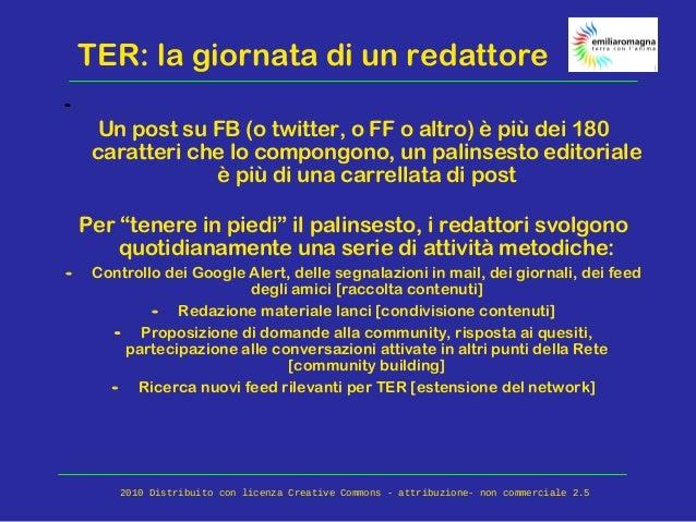 TER: la giornata di un redattore - Un post su FB (o twitter, o FF o altro) è più dei 180 caratteri che lo compongono, un p...