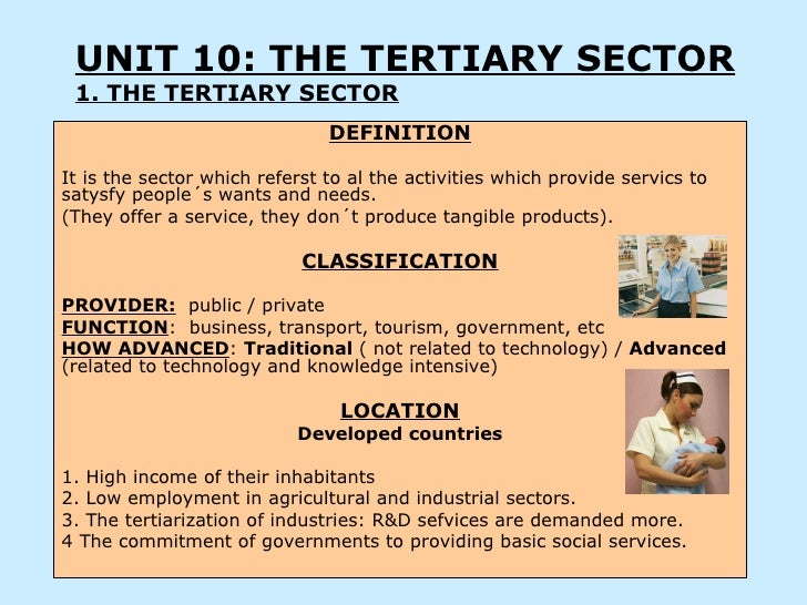 why is the tertiary sector important