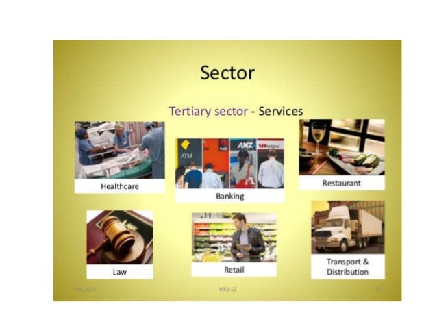the tertiary sector services trade