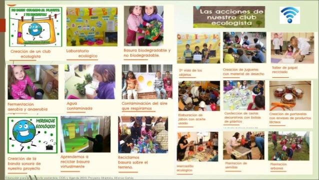 Educación para el desarrollo sostenible. ODS y Agenda 2030. Proyecto Atlántida. Alfonso Cortés 25