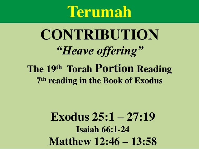 Image result for terumah heave offering