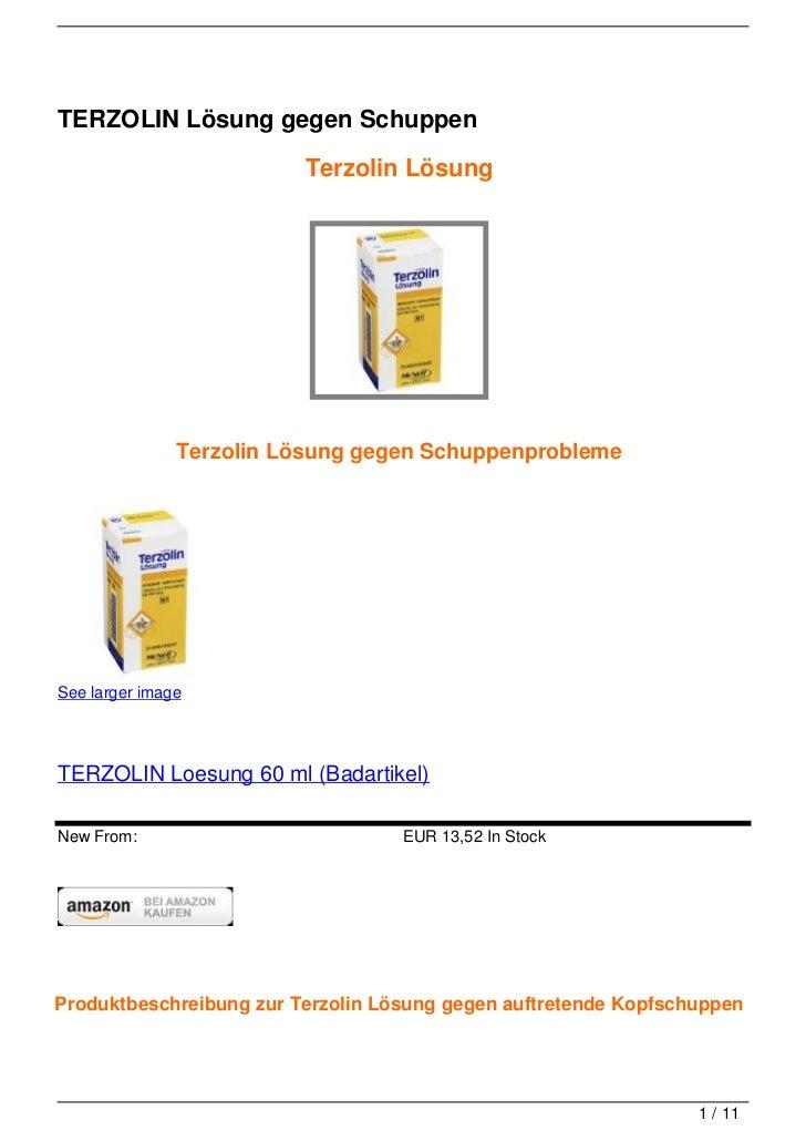 TERZOLIN Lösung gegen Schuppen                         Terzolin Lösung               Terzolin Lösung gegen Schuppenproblem...