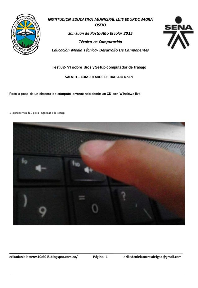 INSTITUCION EDUCATIVA MUNICIPAL LUIS EDURDO MORA OSEJO San Juan de Pasto-Año Escolar 2015 Técnico en Computación Educación...