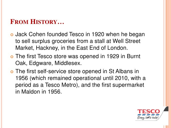 the history and background of tesco Tesco bank's vision and key facts about our business  about us tesco bank launched  view our history timeline  tesco bank ehq.