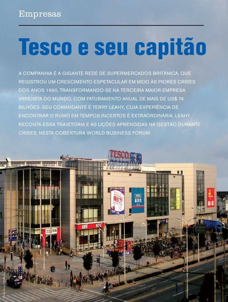 Empresas                                  Tesco e seu capitão                               A compAnhiA é A gigAnte rede d...