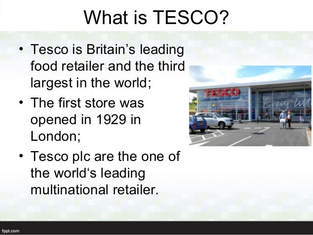case study for tesco pdf