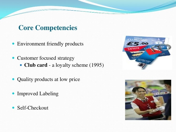 tesco competencies