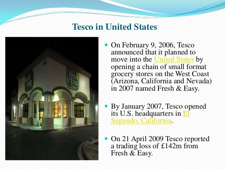 Tesco International Global Marketing