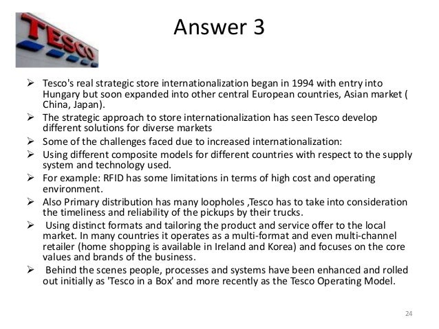 tesco s internationalization analysis The success of tesco's international expansion in south korean market examination and analysis of key factors - mayer taylor - bachelor thesis - business economics - trade and distribution - publish your bachelor's or master's thesis, dissertation, term paper or essay.