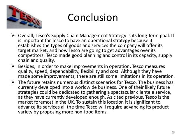 Operations management in tesco