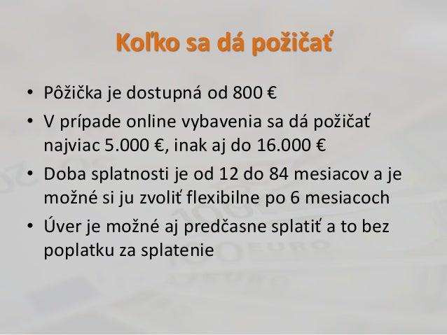 Online pujcka bez doložení príjmu velešín cena