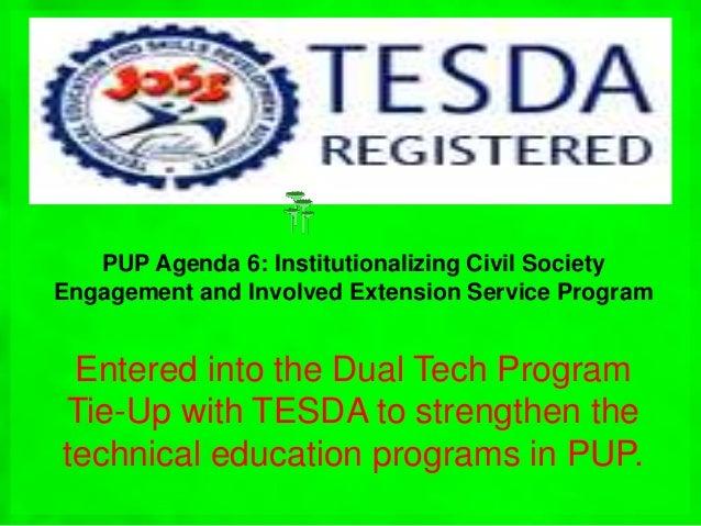 TESDA: TESDA: TVET Training Continuum (Technical Education