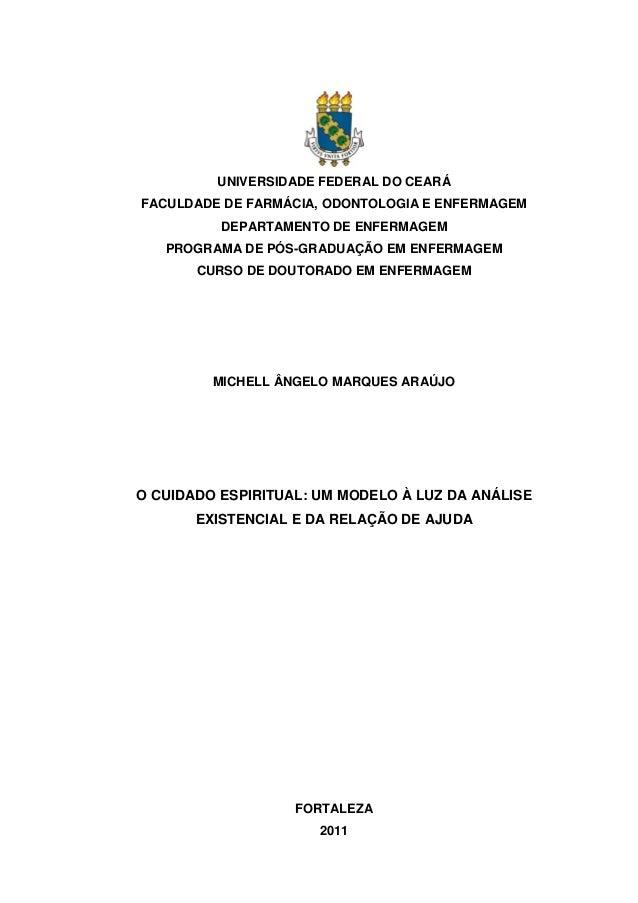 UNIVERSIDADE FEDERAL DO CEARÁ FACULDADE DE FARMÁCIA, ODONTOLOGIA E ENFERMAGEM DEPARTAMENTO DE ENFERMAGEM PROGRAMA DE PÓS-G...