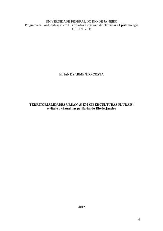 4 UNIVERSIDADE FEDERAL DO RIO DE JANEIRO Programa de Pós-Graduação em História das Ciências e das Técnicas e Epistemologia...